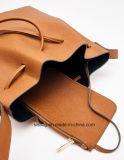 Sac à main de femmes de sac d'emballage de cordon de couleur d'unité centrale Tan de mode