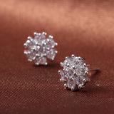 Zircon Geometrico-A forma di dell'intarsio degli orecchini dell'argento sterlina di modo 925 delle donne