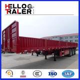 반 세 배 차축 판매를 위한 널리 이용되는 측벽 트레일러