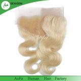 Ohr Spitze-Stirnbein des Ohr-blonde frontale Karosserien-Wellen-zum brasilianischen Haar-613#