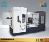 Tipo horizontal torno do sistema de Ck6180 Fanuc do CNC da base lisa