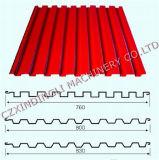 Rolo do painel do telhado do metal de folha que dá forma à maquinaria para a venda