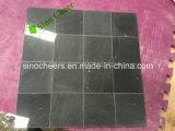 Azulejo de suelo de mármol blanco y negro de mosaico del precio bajo