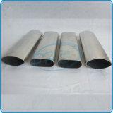 El plano de acero inoxidable echó a un lado tubo oval para el vector de funcionamiento