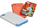 실리콘 Customed 도매 공백 iPhone 7을%s 제 2 3D 승화 전화 상자