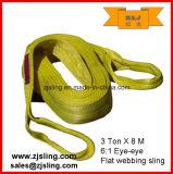 слинг 3t x 2m Webbing желтого полиэфира 3t поднимаясь (смогите быть подгоняно)