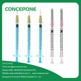 Medisch lever 3 Delen van de Medische Beschikbare Steriele Spuit (1mm)