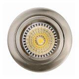停止しなさい鋳造アルミGU10のMR16によって修復される引込められた白いサテンのニッケル円形LEDライト(LT1100)を