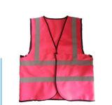 卸し売り安い道路の男女兼用のこんにちは気力のピンクの安全反射ベストを保護する