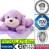 セリウムの柔らかいぬいぐるみのプラシ天のおもちゃの紫色のすみれ色のラベンダー犬