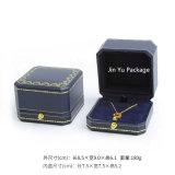 Rectángulo de empaquetado del color de la joyería hecha a mano plástica azul del regalo para el collar