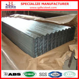 Lamiera sottile ondulata d'acciaio del tetto dello zinco del metallo del TUFFO caldo Z275