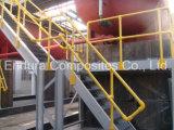 FRP Schritte / Treppenstufen mit Nosing / GFK / GRP Nosing / Fiberglas-Gitter