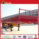 Remorque de service de cargaison en bloc de remorque avec le mur latéral
