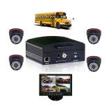 4 canais 3G Mobile DVR Car DVR System para caminhão de ônibus, Suporte HDD 1tb e cartão SD de 128GB para armazenamento