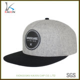 昇進革パッチのロゴの100%のウールの急な回復の帽子
