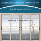 Puertas deslizantes de aluminio del precio competitivo del fabricante de Foshan con diversos paneles