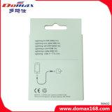 Cabo do USB dos acessórios do telefone móvel para o iPhone com pacote