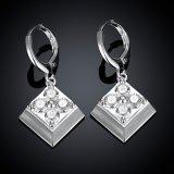 Manier 925 de Zilveren Geplateerde Oorring van de Tegenhanger van de Diamant van de Oorring Zircon