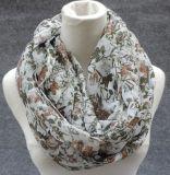 Fleurs Imprimer Floral Infinity Loop Spring Autumn Scarf Echarpe pour femme