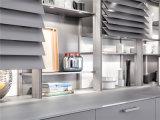 2015 polijst het Uitstekende Hoge Wit van het Ontwerp Welbom de Keukenkast van de Lak