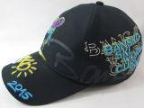 O basebol profissional do projeto da forma do bordado 3D ostenta o chapéu e o tampão com parte traseira do metal da cinta