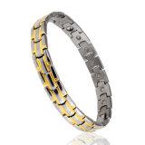 Bracelete de prata da jóia da energia dos cuidados médicos do aço inoxidável para o homem