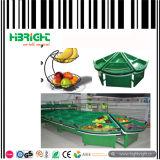 Acrylsupermarkt-Obst- und GemüseBildschirmanzeige-Zahnstange