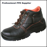Zapatos de seguridad impermeables del tiempo de trabajo del cuero genuino de los hombres