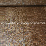 ワニパターン半PUの家具の革(QDL-FS006)