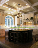 Mobília luxuosa da cozinha do gabinete de cozinha da madeira contínua (WH-D903)