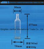 Bottiglia di vetro del Lungo-Corpo quadrato per birra e vino