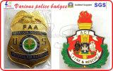 Divisas plateadas oro de la policía de la alta calidad