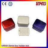 オートクレーブアルミニウム青い歯科Burの消毒ボックスホールダーのブロック