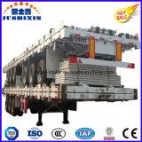 Tri Semi Aanhangwagen van de Container van Assen 20/40FT Flatbed voor Verkoop