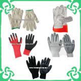 De látex revestidas de trabalho Segurança Luvas / Luvas de mão (GS-104A / GS-401)