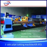 Cortador de la cortadora del combustible de Oxy del gas de la llama del plasma del tubo del tubo del CNC de Kasry con el certificado Kr-Xy3 del Ce