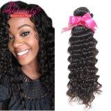 Pacotes profundos do cabelo da onda do cabelo humano de Remy do Malaysian da venda por atacado 100%