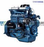 Moteur diesel de 6 cylindres. Moteur diesel de Changhaï Dongfeng pour le groupe électrogène. Moteur de Sdec. 170kw
