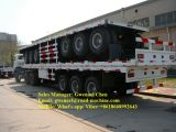 3 eixos 50 toneladas de Semi-Trailer Flatbed, do recipiente reboque Semi, eixo de BPW