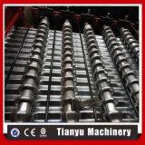 Colorear la hoja acanalada de acero del material para techos del metal que hace la máquina