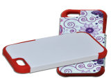 Caixa do telefone do Sublimation 3D do espaço em branco por atacado de Customed do silicone 2D para o iPhone 7