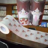 Fournisseur estampé drôle de vente en gros de papier de toilette