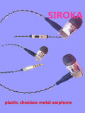 Наушник металла наушника MP3 наушника отделяемого наушника кабеля стерео