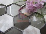 Mosaico de aluminio de la decoración de la talla de la mezcla de cristal grande del hexágono (CFA81)