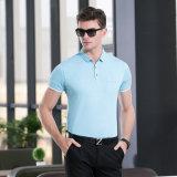 보통 Business&Casual 여름 의류 폴로 셔츠가 고전 적당한 남자에 의하여 소매 누전한다