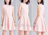 Платье пинка женщин платья безрукавный для оптовой продажи