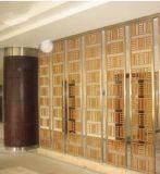L'acier inoxydable spéculaire d'or décoratif de Rose examine le rideau en diviseurs de pièce