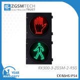 赤い緑のウォークマンのパソコンハウジングが付いている300mm LEDの交通信号ライトヘッド
