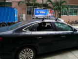 Teken van het Dak van de Taxi van de Reclame van de Taxi van de Kleur van de hoge Resolutie het Enige Zij Volledige Hoogste